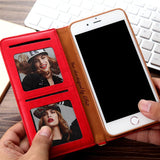Luxury Business Flip Wallet iPhone Case with Stand function