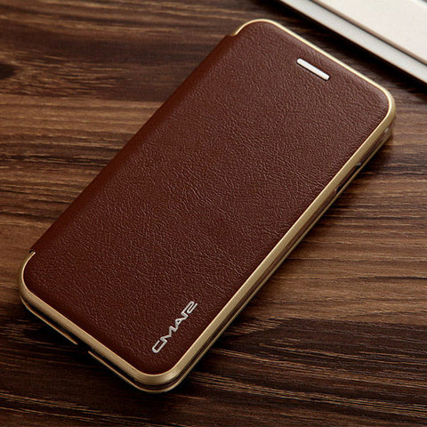 Magnetic Flip Leather Case w/ Card Slot for iPhone series