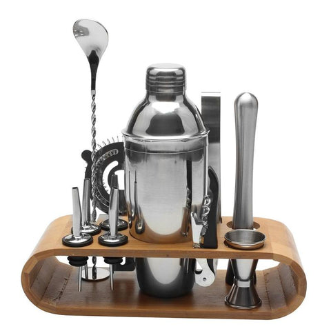 Party Night Professional Bartender Cocktail Kit  Stainless Steel with holder 12 pcs / set