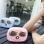 Retro Portable Wireless/Bluetooth Speaker with Built-In Mic