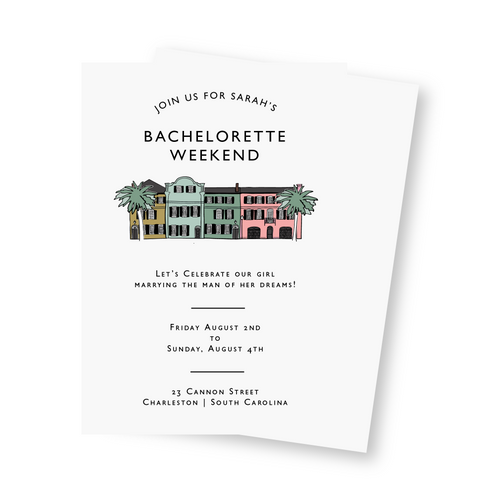 Bachelorette Party Invitation: Charleston