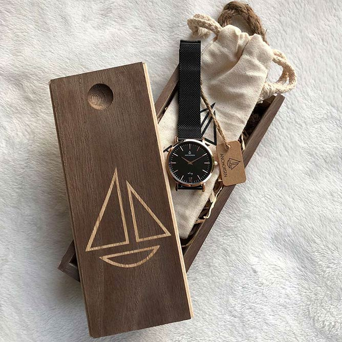 ANCHORSEN Holzbox Segelboot