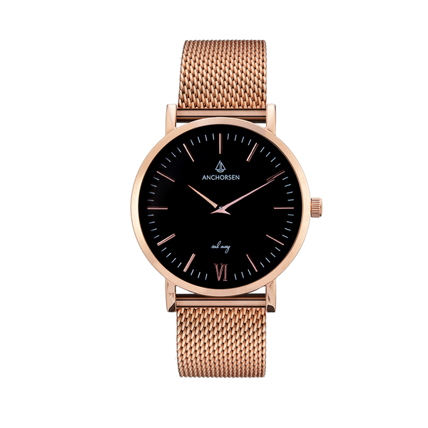 Little Journey rose gold / black