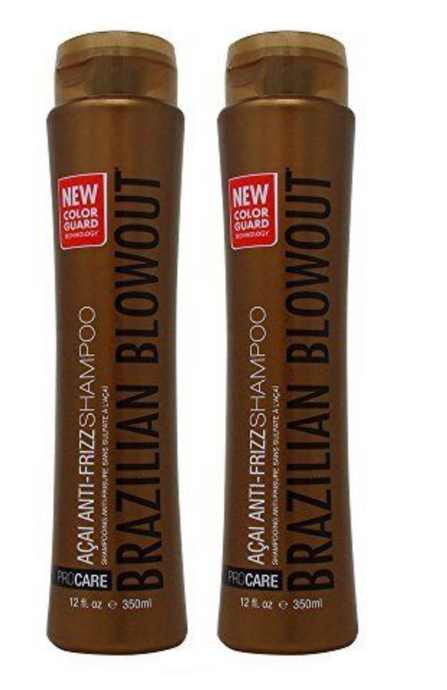 Brazilian Blowout Acai Anti-Frizz Shampoo 12oz, 2-pack