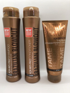 Brazilian Blowout Anti Frizz Shampoo Conditioner Duo with Balm Set