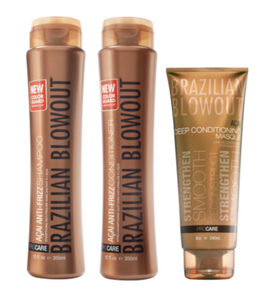 Brazilian Blowout Aftercare Kit Shampoo, Conditioner, Masque