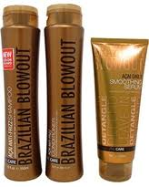 Brazilian Blowout Anti Frizz Shampoo and Conditioner Duo 12 Ounce and Smoothing Serum 8 Ounce