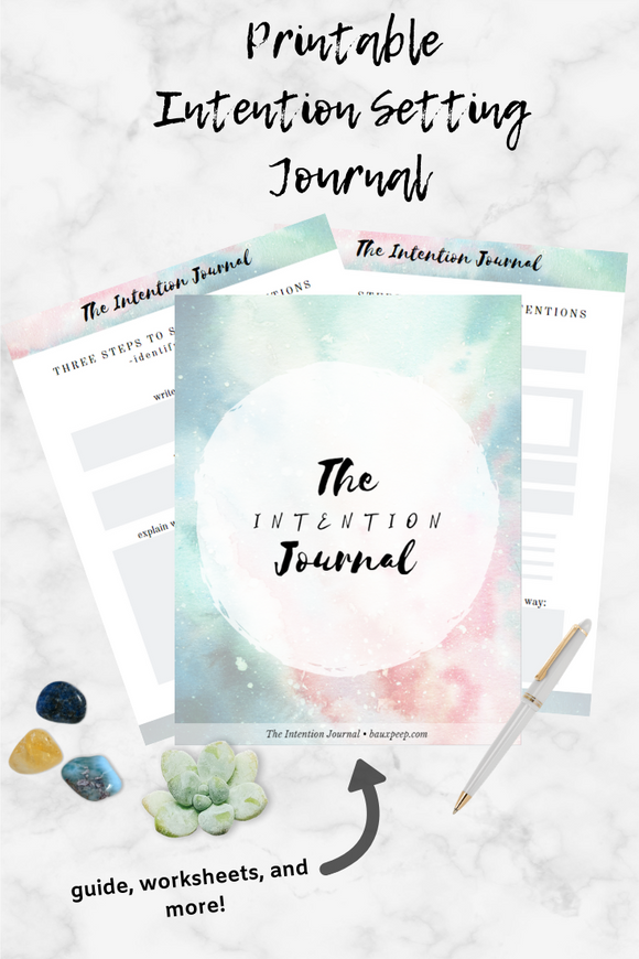 The Intention Journal - Goal Setting and Intention Setting Work Book! - Bauxpeep Boutique