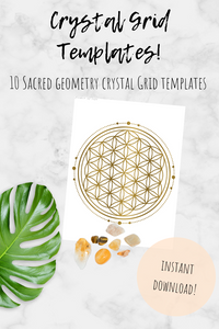 Ten Printable Crystal Grid Templates and Intro to Sacred Geometry - Bauxpeep Boutique