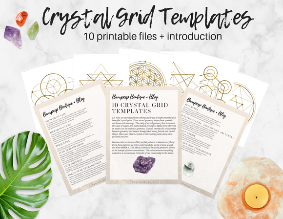 Ten Printable Crystal Grid Templates and Intro to Sacred Geometry