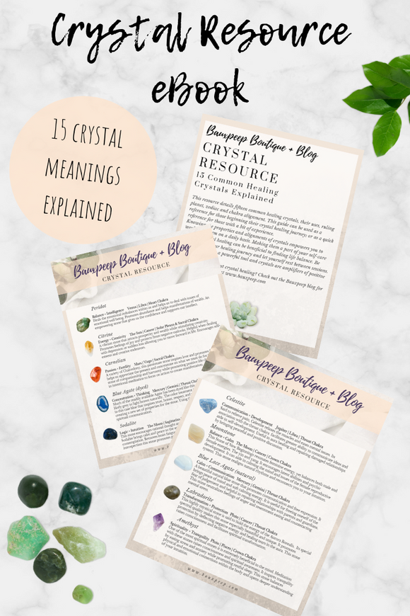 Beginner Crystal Healing Reference Guide Resource eBook - Bauxpeep Boutique