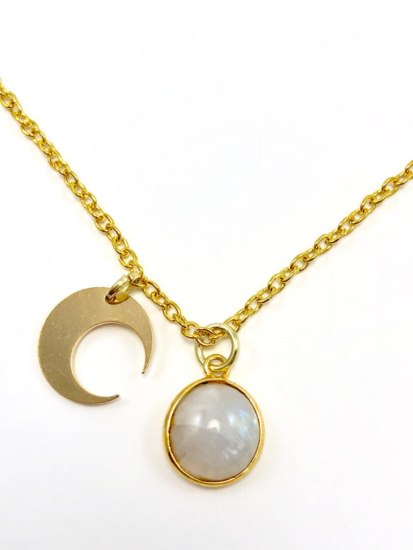 Celestial Charm Moonstone Necklace