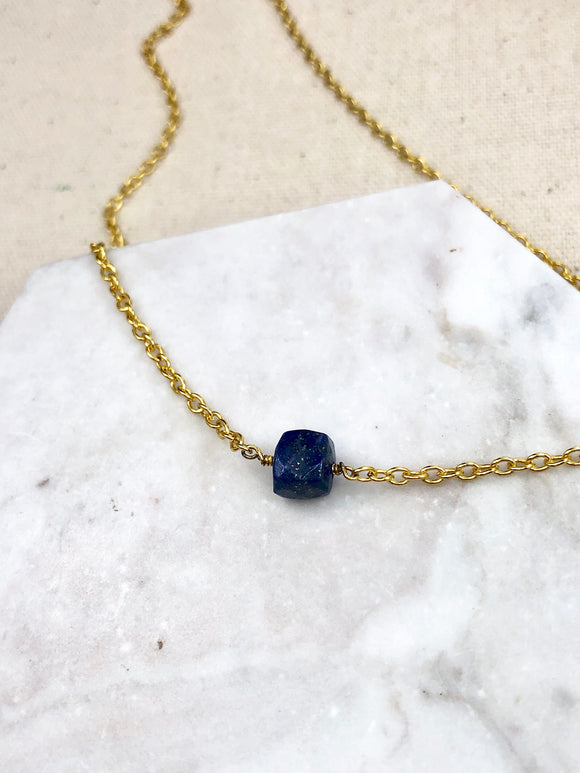 Truth Stone Lapis Lazuli Necklace - Bauxpeep Boutique