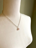 Dainty Rose Quartz Necklace - Bauxpeep Boutique