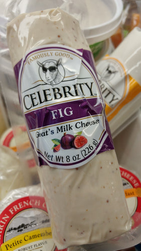 Celebrity Goat's Milk Cheese Fig 8 oz