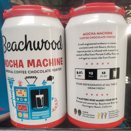 Beachwood Brewing Mocha Machine 12oz 4pk Cans