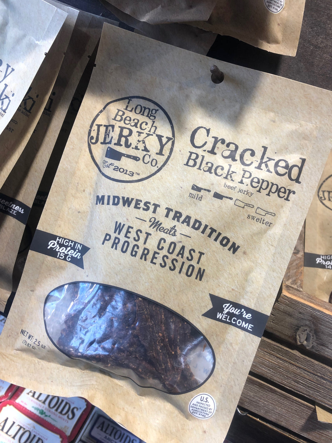 Long Beach Jerky Co. Cracked Black Pepper 2.5oz