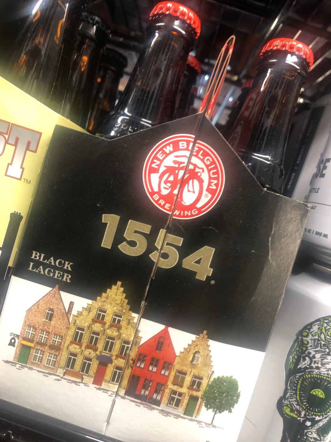 New Belgium 1554 Black Lager 12oz Bottles 6 pk