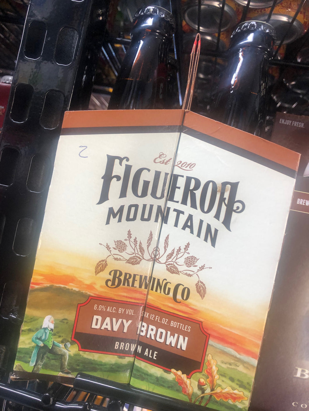 Figeroa Mountain Davy Brown Ale 12oz Bottles 6 pk