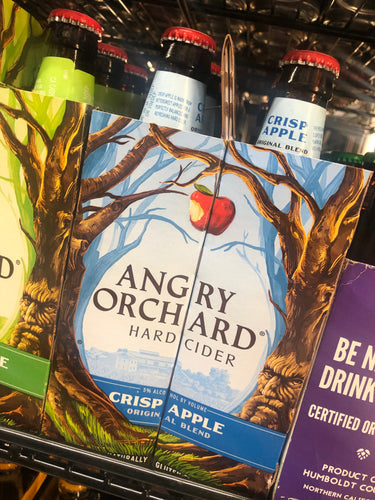 Angry Orchard Crisp Apple Hard Cider 12oz Bottles 6 pk