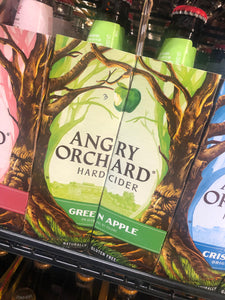 Angry Orchard Green Apple Hard Cider 12oz Bottles 6 pk