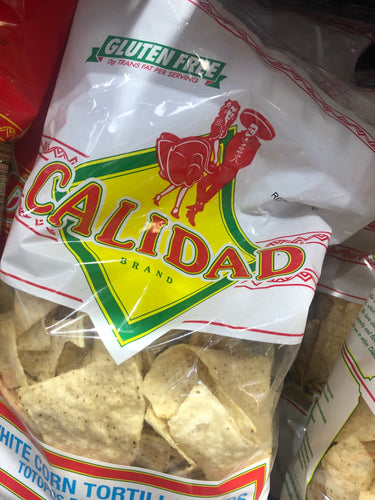 Calidad White Corn Tortilla Chips 12 oz