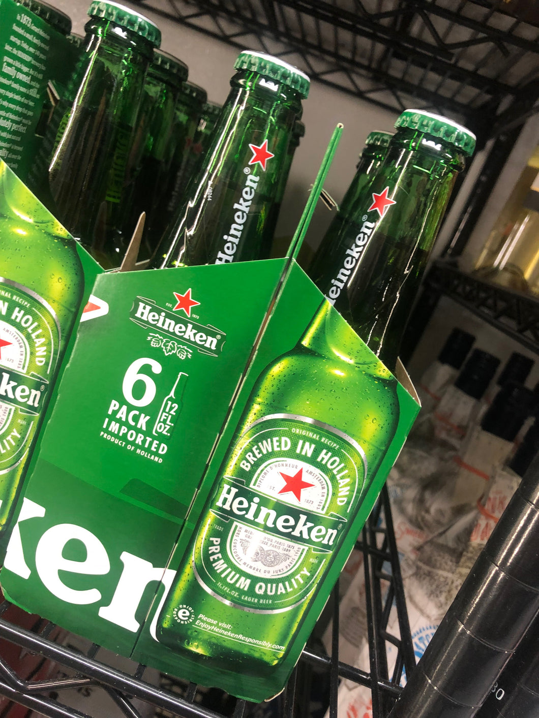 Heineken 12 oz Bottle 6 pk