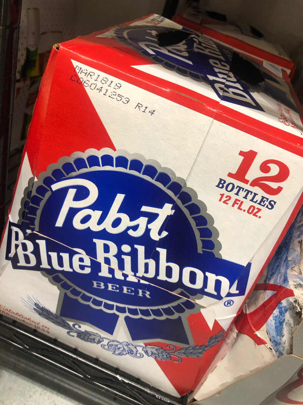 Pabst Blue Ribbon 12 oz Bottles 12 pk
