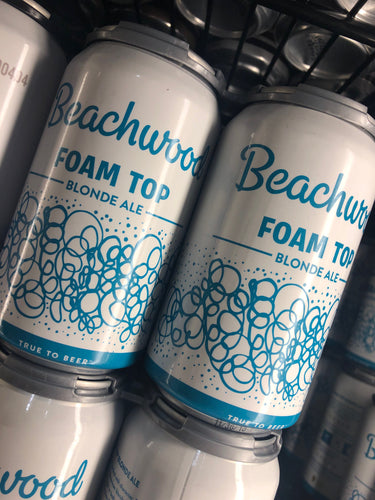 Beachwood Brewing Foam Top Blond 12 oz Cans 6 pk