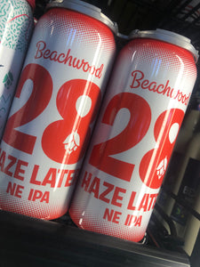 Beachwood Brewing 28 Haze Later NE IPA 16 oz Cans 4 pk