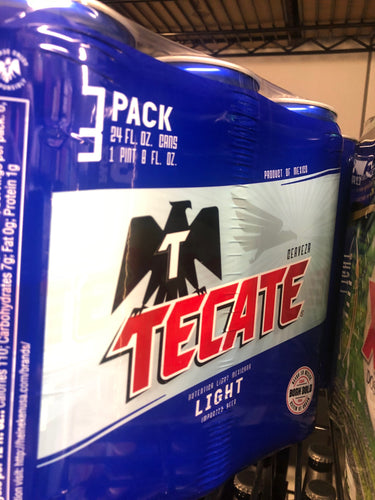 Tecate Light 16 oz Cans 3 pk