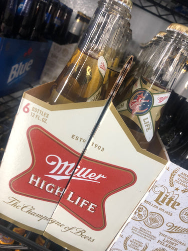 Miller High Life 12 oz Bottles 6 pk