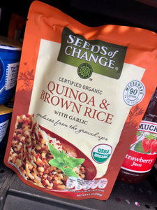 Seeds of Change Organic Quinoa & Brown Rice with Garlic 8.5 oz