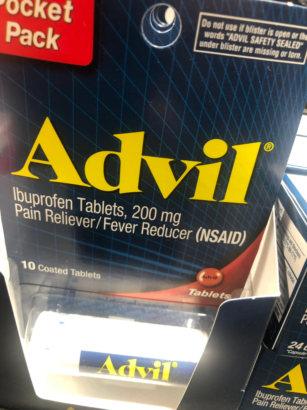 Advil Pocket Pack Tablets 200 mg (10)