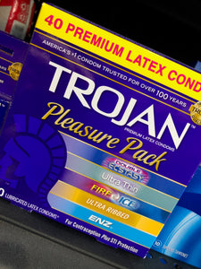 Trojan Pleasure Pack Condoms (40)
