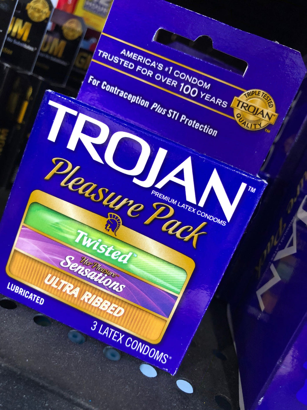 Trojan Pleasure Pack Lubricated Condoms (3)