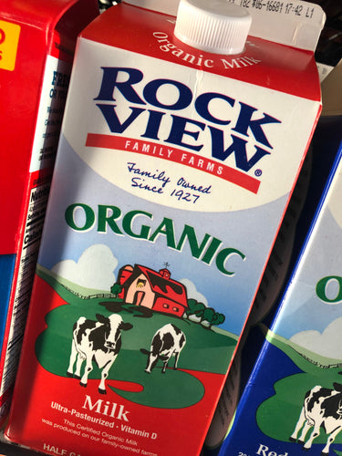 Rock View Organic Whole Milk 1/2 Gallon