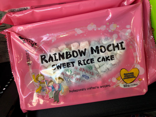 Rainbow Mochi Sweet Rice Candy  10.58 oz