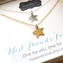 Load image into Gallery viewer, best friends star necklace set of 2 - RayK designs