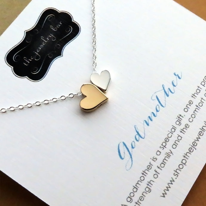 Godmother Goddaughter double heart necklace - RayK designs