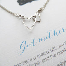 Load image into Gallery viewer, Godmother gift Big and little heart necklace/bracelet - RayK designs