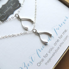 Load image into Gallery viewer, Best friends Wishbone charm necklace - RayK designs