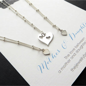 Mother two daughter satellite chain necklace set - RayK designs