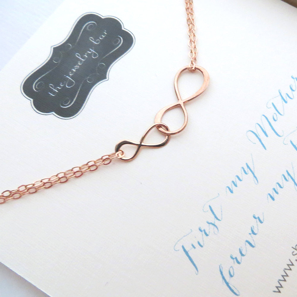 Rose gold small and big infinity bracelet - RayK designs