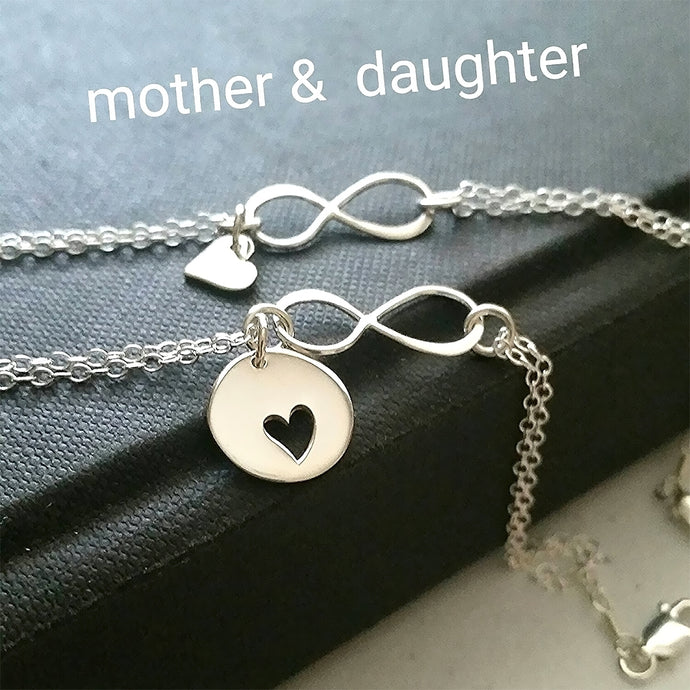 Mother daughter infinity bracelets - gold or 925 sterling silver - RayK designs