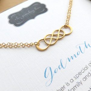 Godmother bracelet, interlocking infinity bracelet, Godmother gifts, mothers day gift for Godmother from goddaughter, godmom gift - RayK designs