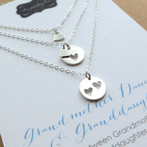 Three Generations necklace set, Grandmother, mother and daughter - RayK designs