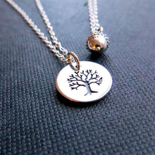 Load image into Gallery viewer, Grandmother granddaughter tree of life and acorn necklace set - RayK designs