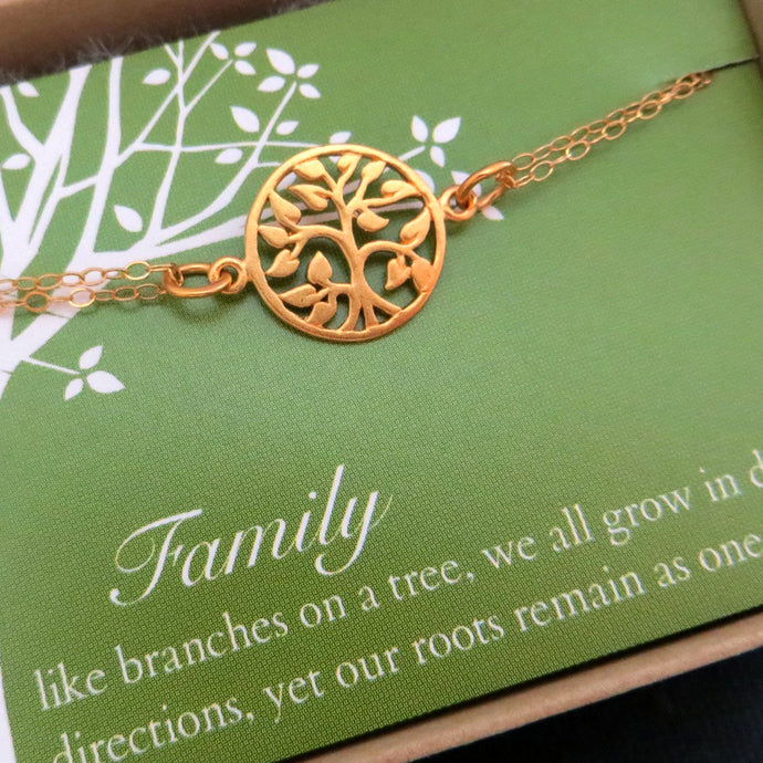 Gold tree of life bracelet - RayK designs