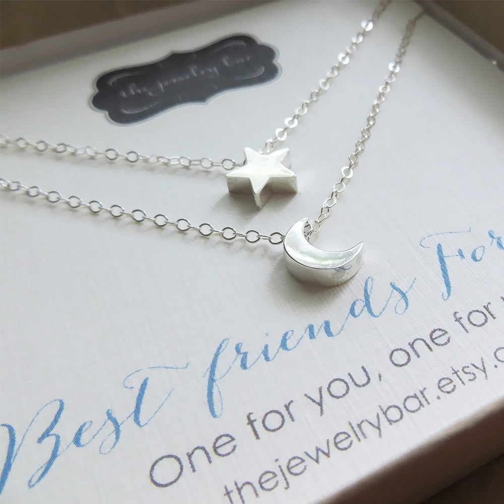 2 Mother Daughter Angel Wing Necklaces BFF